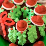 Red Velvet PEEPS® Holiday Wreath Cake