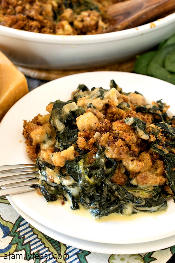 Spinach and Kale Gratin - A Family Feast