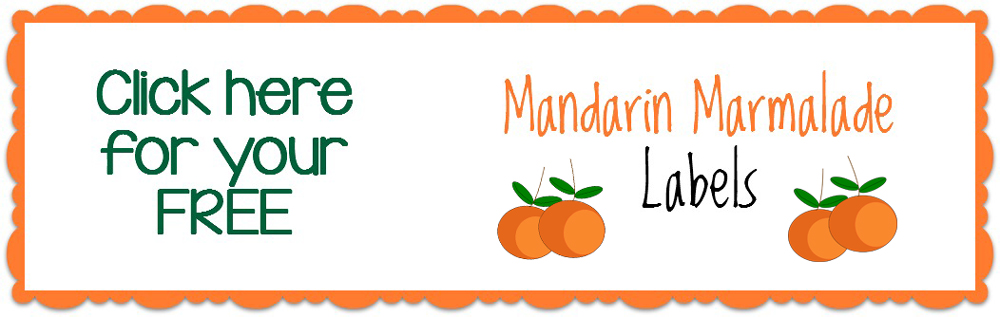 Mandarin Marmelade Label Printable - A Family Feast