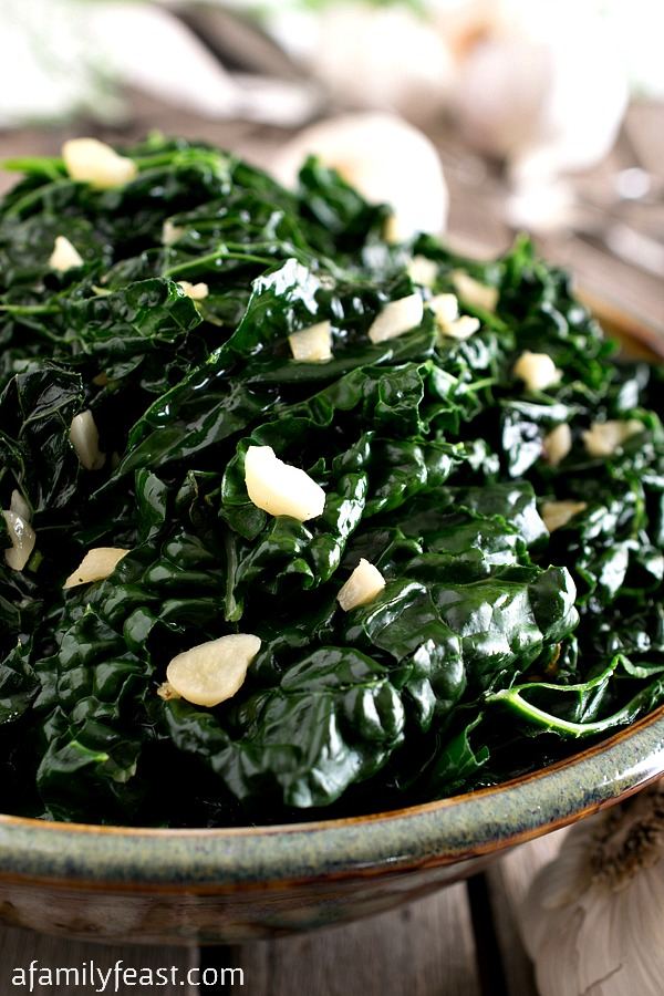 Garlicky Tuscan Kale - A Family Feast