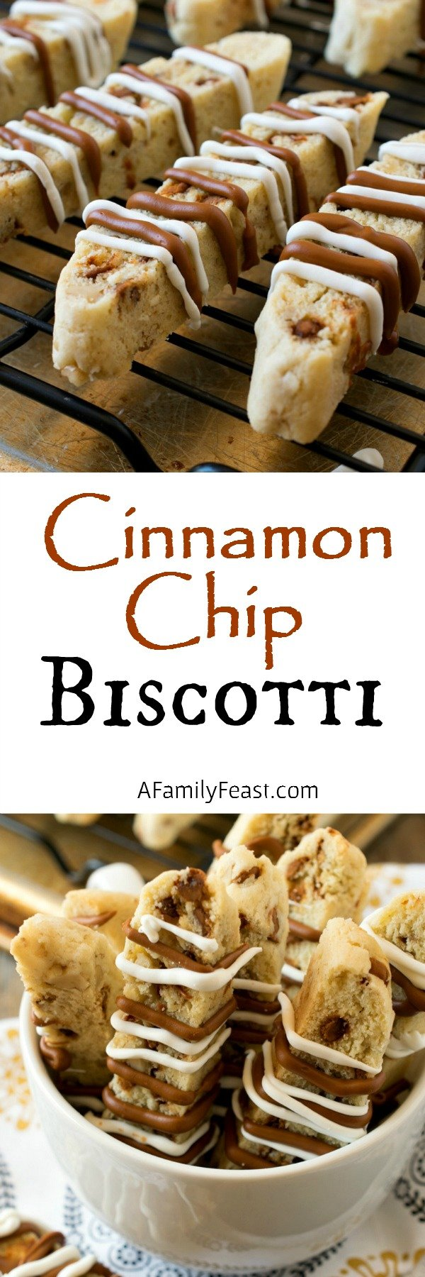... biscotti filled with cinnamon chips and walnuts and a white chocolate