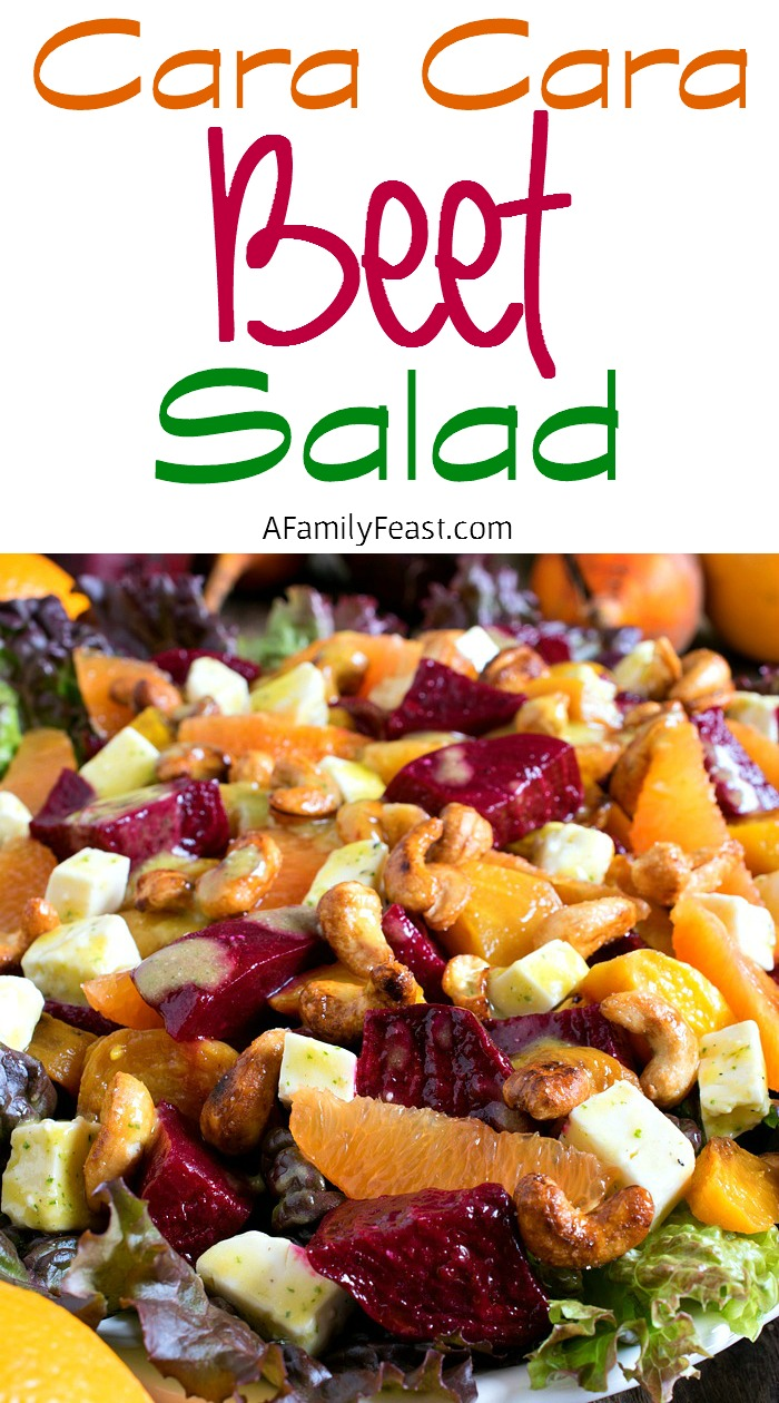 Cara Cara Beet Salad - A fantastic salad made with Cara Cara oranges and red and golden beets. Such a great flavor combination!