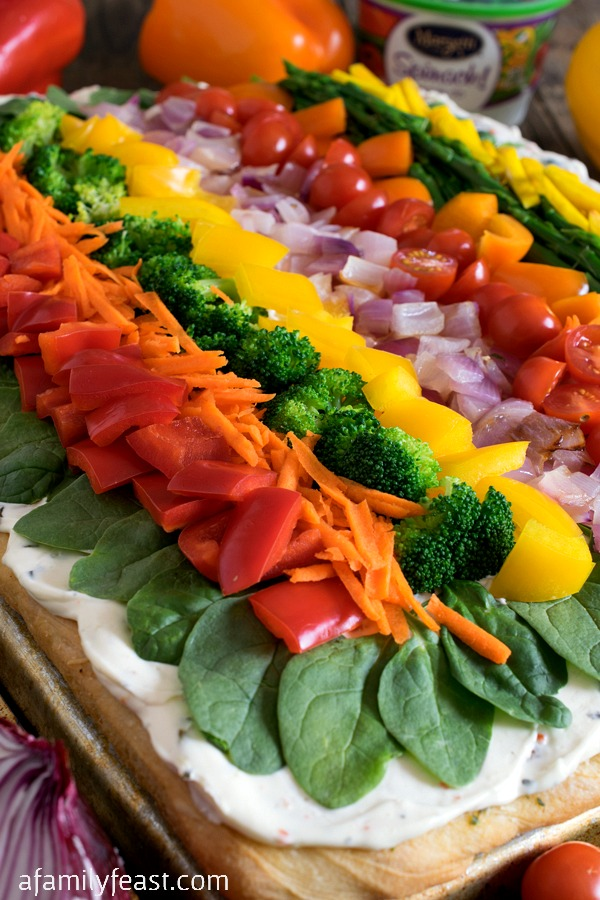 Cold Veggie Pizza - A Family Feast