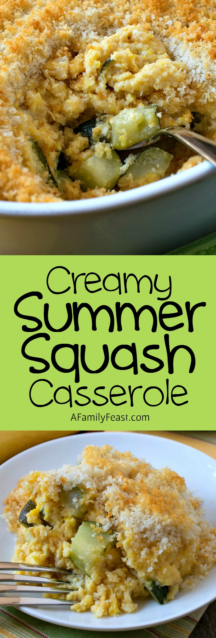 Creamy Summer Squash Casserole - This easy and delicious casserole is a great way to enjoy in-season summer squash and zucchini.