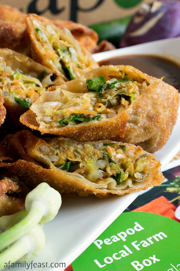 delicious Vegetable Egg Rolls recipe inspired by the vegetables from ...