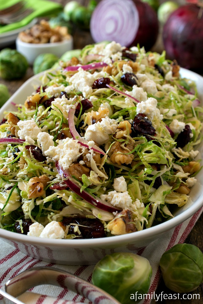 Shaved Brussels Sprout Salad - A Family Feast