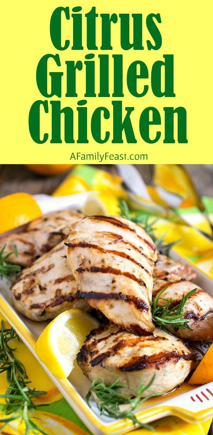 Grilled Citrus Chicken Breasts Recipe — Dishmaps