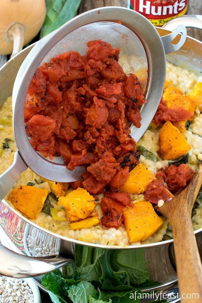 Fire Roasted Tomato and Barley RisottoA Family Feast