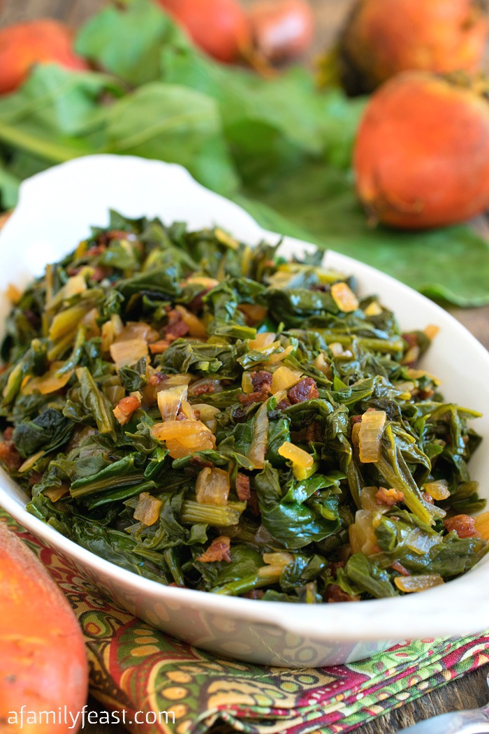 Sautéed Beet Greens - Don't throw out those beet greens! Make our delicious Sautéed Beet Greens instead!