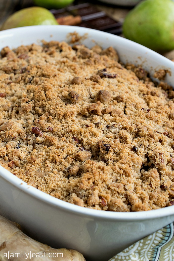 Pear and Dark Chocolate Crisp - A very special dessert! Chunks of ...