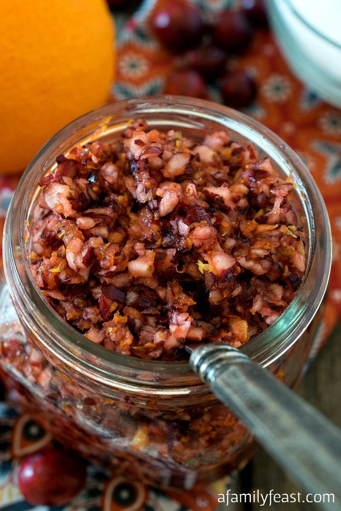 Cranberry Orange Relish - A Family Feast