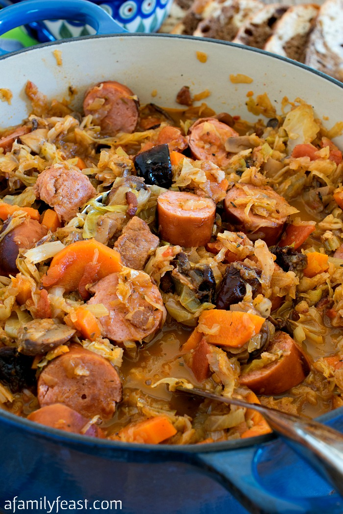 Bigos (also known as Polish Hunter's Stew) is a hearty delicious dish ...