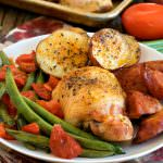 Chicken and Linguica Sheet Pan Dinner