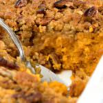 Ginger Maple Sweet Potato Casserole