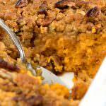 Ginger Maple Sweet Potato Casserole