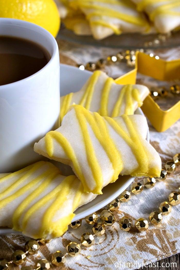 Lemon Star Cookies - A Family Feast
