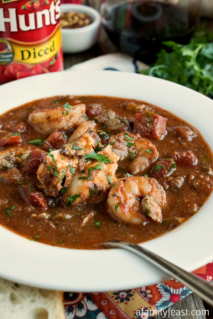 "Cioppino - A classic Italian, tomato-based ""Catch of the Day"" seafood stew with fantastic flavor!"