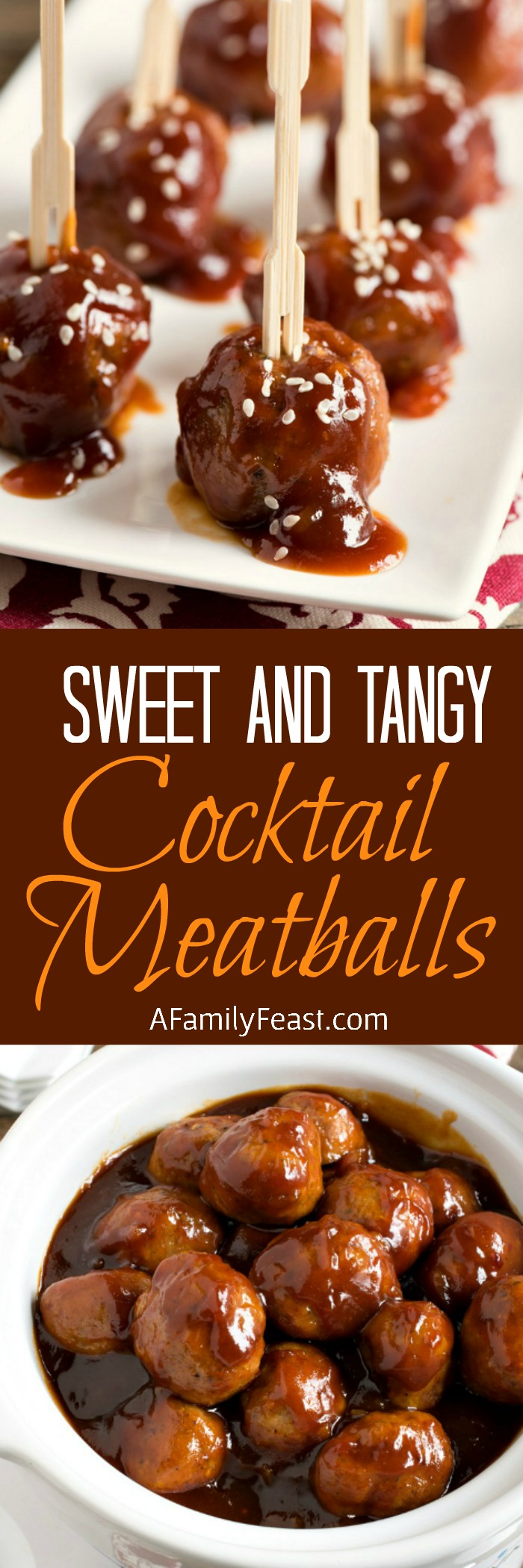 Sweet and Tangy Cocktail Meatballs - Tender turkey meatballs in a fantastic sweet and tangy sauce! Perfect for game day parties!