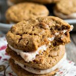 Ginger Molasses Cookies with Cherry Cream Filling