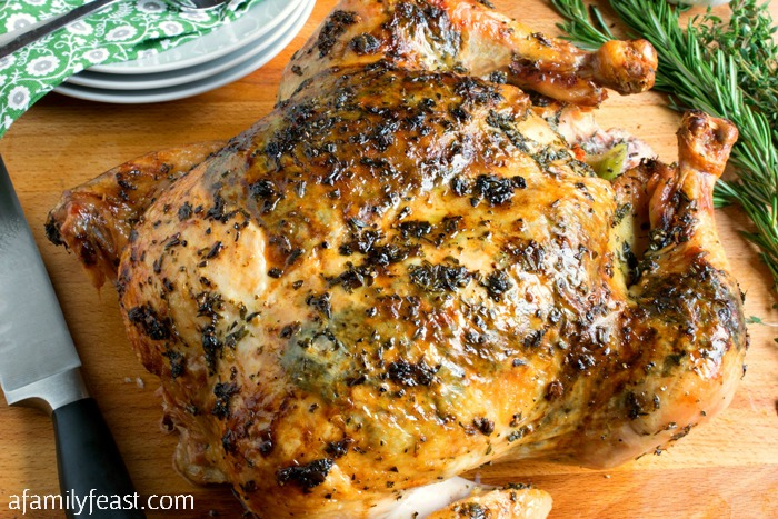 How to make Perfect Herb Roasted Chicken. This is a recipe everyone should have in their collection!